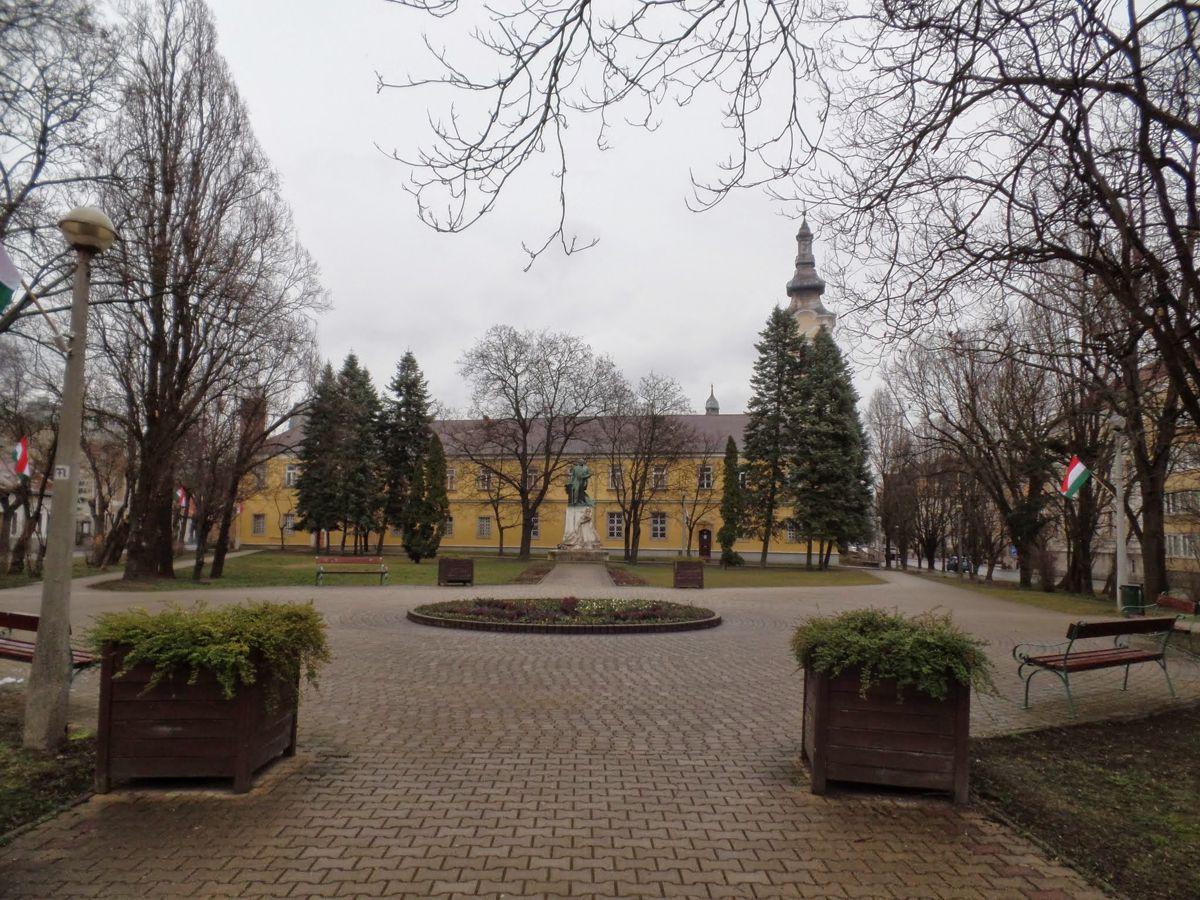 A kollégium udvara